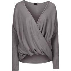 Swetry klasyczne damskie: Sweter dzianinowy bonprix dymny szary