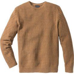 Swetry klasyczne męskie: Sweter Regular Fit bonprix jasnobrązowy