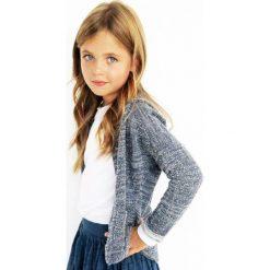 Nativo - Kardigan dziecięcy 104-152 cm. Niebieskie swetry dziewczęce marki Nativo, z bawełny. W wyprzedaży za 49,90 zł.