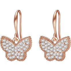 Kolczyki damskie: Pozłacane kolczyki ze szklanymi kryształkami