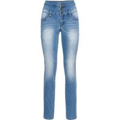 Dżinsy SKINNY z wysoką talią bonprix niebieski bleached. Niebieskie spodnie z wysokim stanem bonprix, z jeansu. Za 139,99 zł.