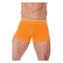 Bokserki męskie: Brubeck Bokserki męskie Active Wool pomarańczowe r. XL (BX10870)