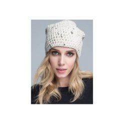 Czapka hauer KRAFF SAND hand made. Czarne czapki zimowe damskie marki Hauer, z nadrukiem, z polaru. Za 109,00 zł.