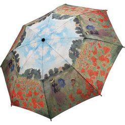 "Parasole: Parasol ""Monet – Poppy Field"" w kolorze khaki ze wzorem"