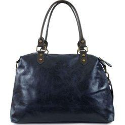 """Torebki klasyczne damskie: Skórzana torba """"Karine"""" w kolorze niebieskim – 43 x 34 x 13 cm"""