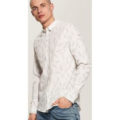 Odzież męska: Koszula z nadrukiem all over – Biały