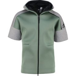 Bluzy męskie: adidas Performance Bluza rozpinana trace green/medium grey heather