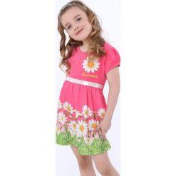Sukienka w kwiatki amarantowa NDZ8162. Czerwone sukienki dziewczęce w kwiaty marki Fasardi. Za 59,00 zł.