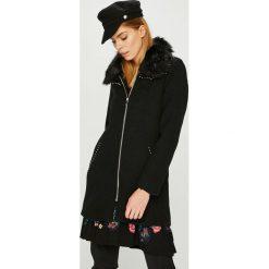 Desigual - Płaszcz. Szare płaszcze damskie wełniane marki bonprix. W wyprzedaży za 599,90 zł.