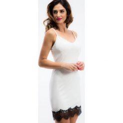 Kremowa bieliźniana sukienka TA6124. Białe sukienki marki Fasardi, l. Za 49,00 zł.