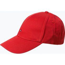 Tommy Hilfiger - Męska czapka z daszkiem, czerwony. Czerwone czapki z daszkiem męskie TOMMY HILFIGER, w jednolite wzory, z bawełny, klasyczne. Za 129,95 zł.