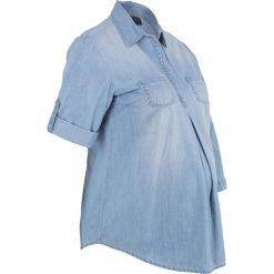 """Bluzka ciążowa z bawełny bonprix jasnoniebieski """"bleached"""". Niebieskie bluzki ciążowe bonprix, z bawełny, moda ciążowa. Za 49,99 zł."""