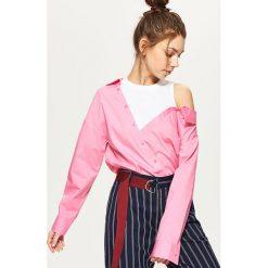 Koszule wiązane damskie: Koszula z topem – Różowy