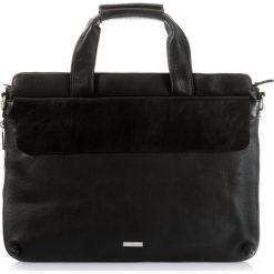 Teczka. Czarne torby na laptopa Ochnik, w paski, ze skóry. Za 499,90 zł.