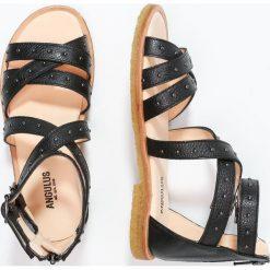 ANGULUS Sandały black. Czarne sandały chłopięce ANGULUS, z materiału, z otwartym noskiem. W wyprzedaży za 384,30 zł.
