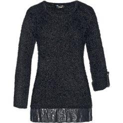 Swetry klasyczne damskie: Sweter bonprix czarny