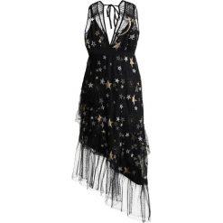 Długie sukienki: Topshop STAR PLUNGE Długa sukienka black