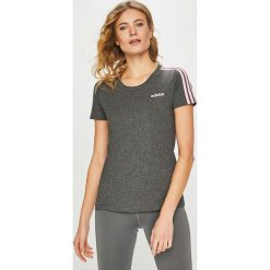 Adidas Performance - Top. Szare topy damskie marki adidas Performance, l, z bawełny, z okrągłym kołnierzem. Za 99,90 zł.