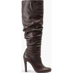 Buty zimowe damskie: Kozak bordowy Pia