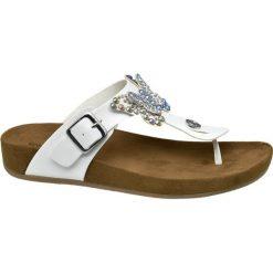 Chodaki damskie: klapki damskie Graceland białe