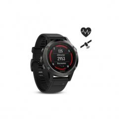 Zegarek sportowy GPS Fenix 5 HR. Czarne zegarki damskie Garmin. Za 2199,00 zł.