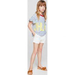 Mango Kids - Szorty dziecięce Nineta 116-164 cm. Szare spodenki dziewczęce Mango Kids, z haftami, z bawełny, casualowe. W wyprzedaży za 49,90 zł.