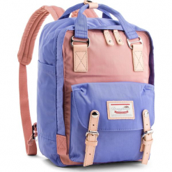 Plecak DOUGHNUT - D010-9076-F  Macaroon Rose X Taro. Fioletowe plecaki męskie Doughnut, z materiału. Za 349,00 zł.