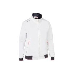 Bluza żeglarska na regaty RACE 100 damska. Białe bluzy damskie marki TRIBORD, z elastanu. Za 149,99 zł.