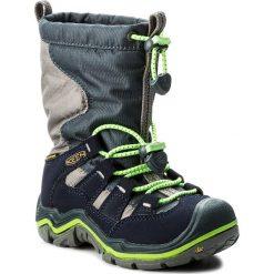 Buty zimowe chłopięce: Śniegowce KEEN – Winterport II Wp 1015254 Midnight Navy/Jasmine Green