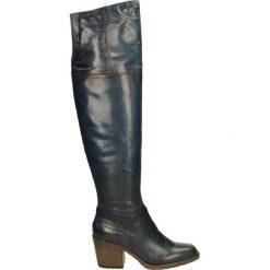 Kozaki ocieplane - 687311 AGADIR. Czarne buty zimowe damskie marki Kazar, ze skóry, na wysokim obcasie. Za 549,00 zł.