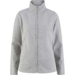 Bluza rozpinana z polaru z wpuszczanymi kieszeniami bonprix jasnoszary melanż. Szare bluzy sportowe damskie bonprix, melanż, z polaru. Za 54,99 zł.