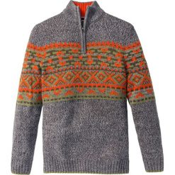 Sweter Regular Fit bonprix szary melanż. Szare golfy męskie marki bonprix, m, melanż. Za 49,99 zł.