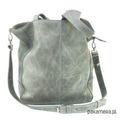 Torebki i plecaki damskie: Szara miękka skórzana torba