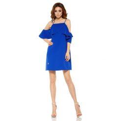 Modna sukienka z odkrytymi ramionami chabrowa VALENTINA. Niebieskie sukienki balowe marki Reserved, z odkrytymi ramionami. Za 159,90 zł.