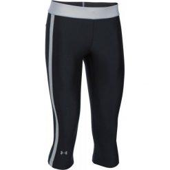Legginsy damskie do fitnessu: Under Armour Legginsy Hg Armour Sport Capri Black True Gray Heather Metallic Silver Xs