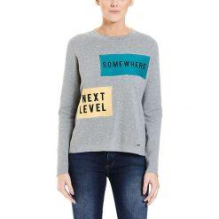 Bluzki damskie: Koszulka w kolorze szarym