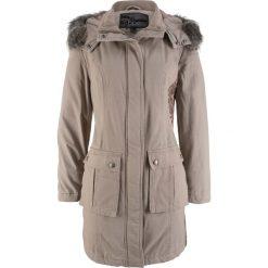 Płaszcze damskie: Płaszcz z haftem bonprix brunatny