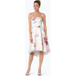 Lipsy - Damska sukienka koktajlowa, beżowy. Niebieskie sukienki na komunię marki bonprix, z nadrukiem, na ramiączkach. Za 449,95 zł.