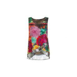 Topy na ramiączkach / T-shirty bez rękawów Desigual  WAZAXER. Szare topy damskie marki Desigual, l, z tkaniny, casualowe, z długim rękawem. Za 175,20 zł.