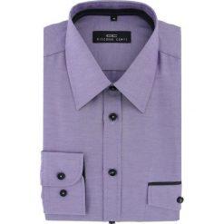 Koszula MARIO 15-10-45-K. Fioletowe koszule męskie na spinki Giacomo Conti, m, z bawełny, z klasycznym kołnierzykiem, z długim rękawem. Za 149,00 zł.