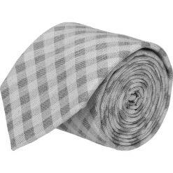 Krawat cotton szary classic 202. Szare krawaty męskie Recman, z bawełny, biznesowe. Za 59,00 zł.