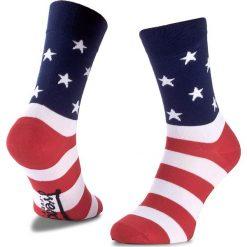 Skarpety Wysokie Unisex FREAK FEET - LUSA-BLR Czerwony Granatowy. Niebieskie skarpetki damskie marki Freak Feet, w kolorowe wzory, z bawełny. Za 19,99 zł.