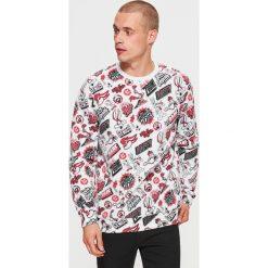 Bluza LOONEY TUNES - Biały. Czerwone bluzy męskie marki KALENJI, m, z elastanu, z długim rękawem, długie. Za 99,99 zł.