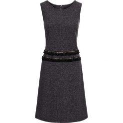 Sukienki hiszpanki: Sukienka z dżerseju z frędzlami bonprix czarny wzorzysty