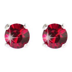 Kolczyki damskie: Posrebrzane kolczyki-wkrętki z kryształkami Swarovski