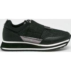 Tommy Hilfiger - Buty. Szare buty sportowe damskie marki TOMMY HILFIGER, m, z nadrukiem, z bawełny, casualowe, z okrągłym kołnierzem. Za 399,90 zł.