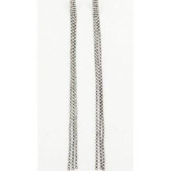 Biżuteria i zegarki: NA-KD Party Kolczyki Hanging Rhinestone - Black,Silver