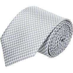 Krawaty męskie: krawat platinum szary classic 210