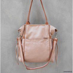 AMBER - duża torba - shopper - ecru. Żółte shopper bag damskie marki Pakamera, z tkaniny, na ramię, duże. Za 151,00 zł.