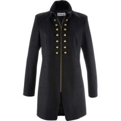 Płaszcz w militarnym stylu z kolekcji Maite Kelly bonprix czarny. Czarne płaszcze damskie pastelowe bonprix, moro, militarne. Za 249,99 zł.